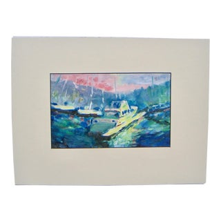 California Fauvism Newport Harbor Oil Painting