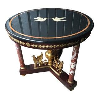 Maitland-Smith Stone Inlay Empire Center Table