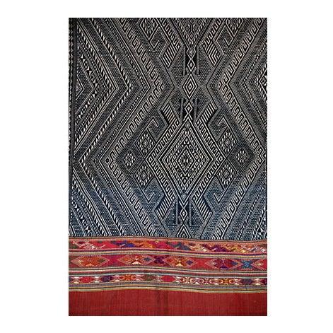 Indigo Dyed Tribal Laotian Textile - Image 2 of 3