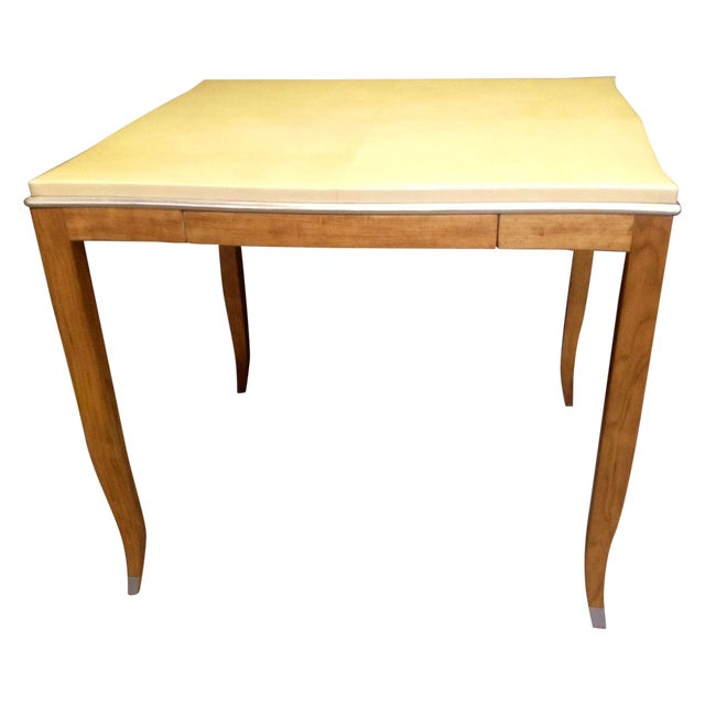 Lacquered Goatskin Game Table - Image 1 of 10