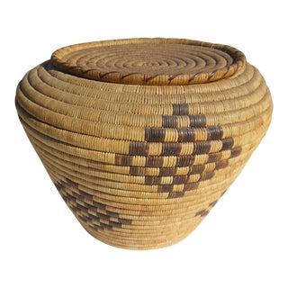 Southwestern Papago Indian Storage Basket
