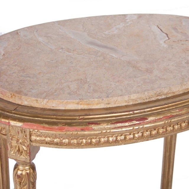 Italian Louis XVI Style Gilt Side Table - Image 4 of 4