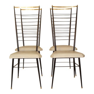 Vintage Italian Dining Chairs - Set of 4
