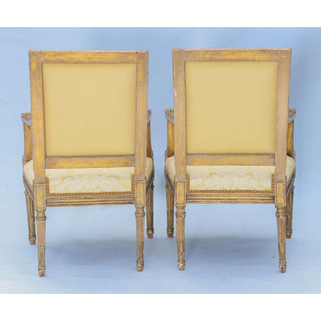 Pair of Early 19th Century Louis XVI Fauteuils - Image 5 of 10