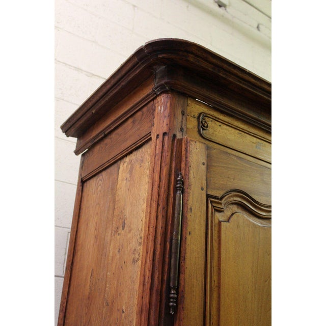 18thC Large French Country Wooden Armoire - Image 4 of 10