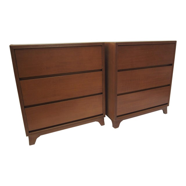 Flared Leg Chests of Drawers - A Pair - Image 1 of 10