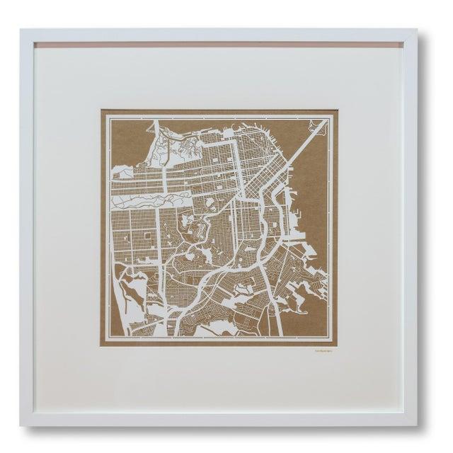 Image of Sarreid LTD San Francisco Framed Map