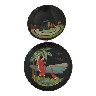 Vintage Souvenir Lacquerware - A Pair
