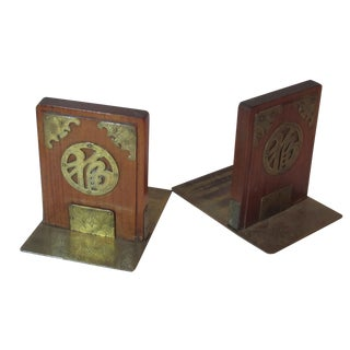 1940's Asian Inspired Bookends - Pair