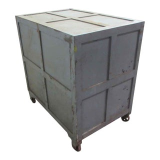 Industrial Gray Steel Safe Box