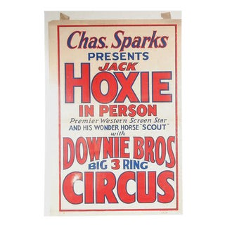 Downie Brothers 1934 Circus Poster