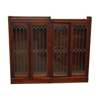 Traditional Leaded Glass Storage Hutch