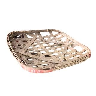 Vintage Woven Tobacco Basket