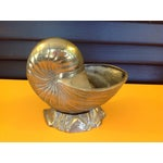 Image of Vintage Brass Shell Planter