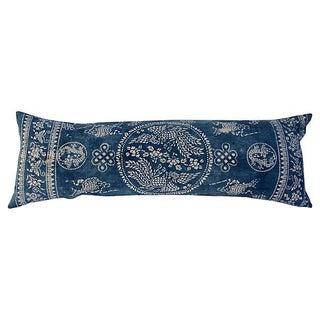 Indigo Batik Phoenix Body Pillow