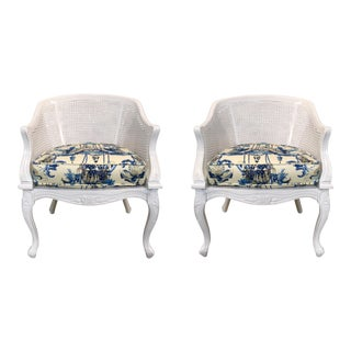 French Style Chinoiserie Chairs - A Pair