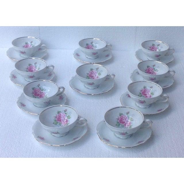 Bavarian Pink Rose China Set - Set of 84 - Image 8 of 8