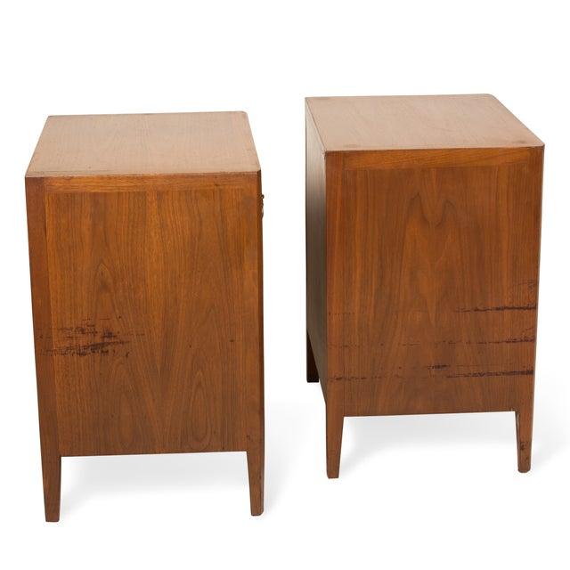 Image of John Stuart Mahogany One Drawer End Tables - Pair