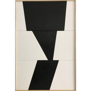 "Jason Trotter Original Acrylic Painting ""Black Formation Triptych Jet0459"""