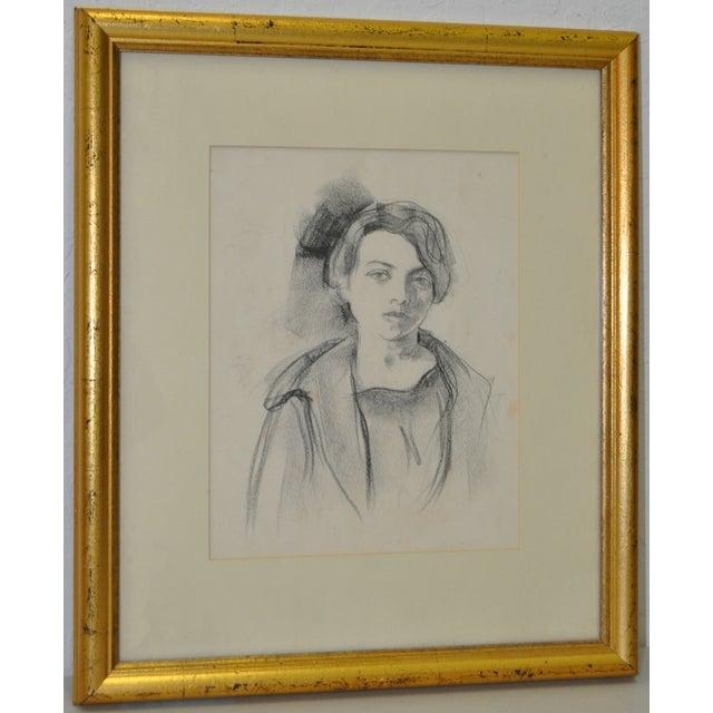 Image of Ralph Stackpole Original Portrait Drawing c.1927