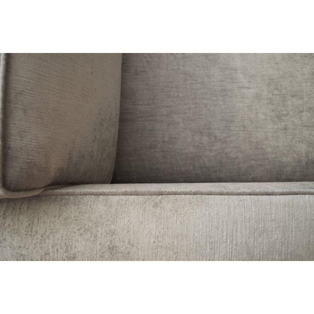 Knoll Club Chair in Distressed Silver Velvet - Image 4 of 5