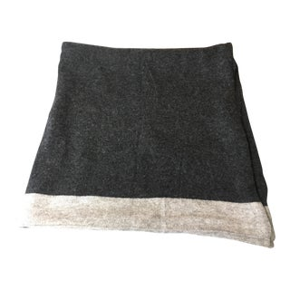 Gray Cashmere Blend Throw Blanket