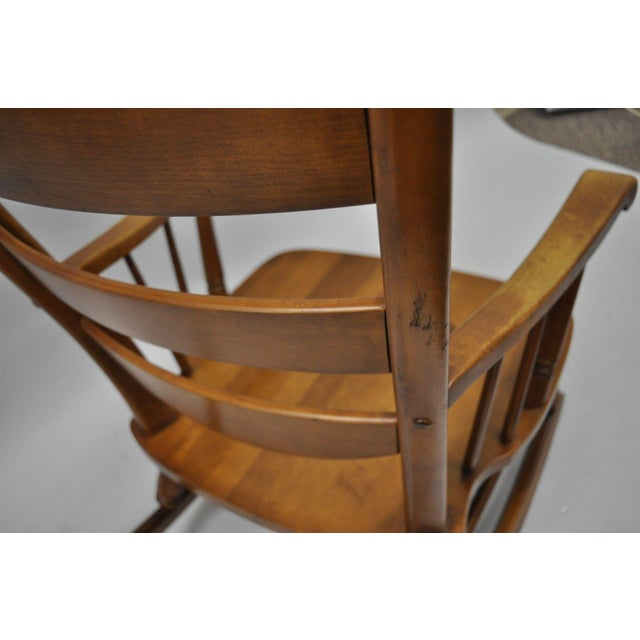 Mid-Century Tell City Maple Sculptural Ladder Back Rocking Chair - Image 9 of 11