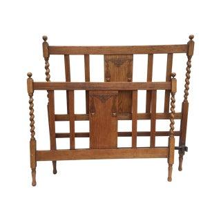 Antique English Barley Twist Bed