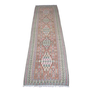 "Vintage Muted Medallion Kilim Runner- 2'8"" x 9'6"""