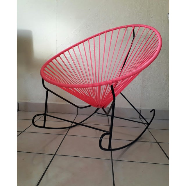 Pink Woven Acapulco Rocking Chair - Image 2 of 3