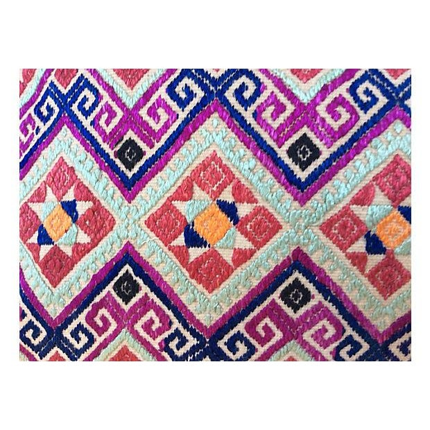 Chinese Wedding Quilt Textile Pillow - Image 2 of 5
