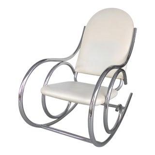 Mid-Century Modern Chrome Rocking Chair