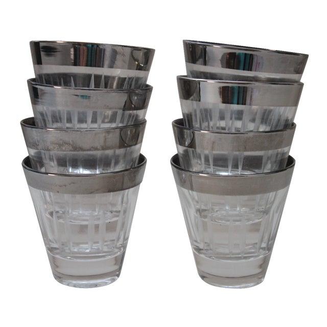 Silver Rimmed Shot Glasses - Set of 8 - Image 1 of 5