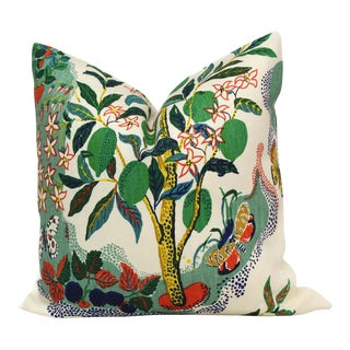 "20"" x 20"" Citrus Garden With Lime Tree Decorative Pillow Cover"