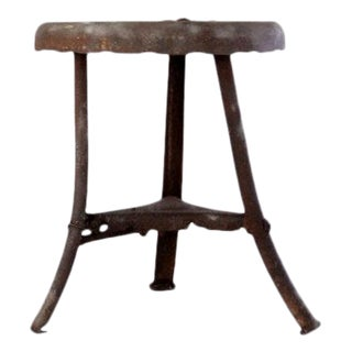 Vintage Metal Milking Stool