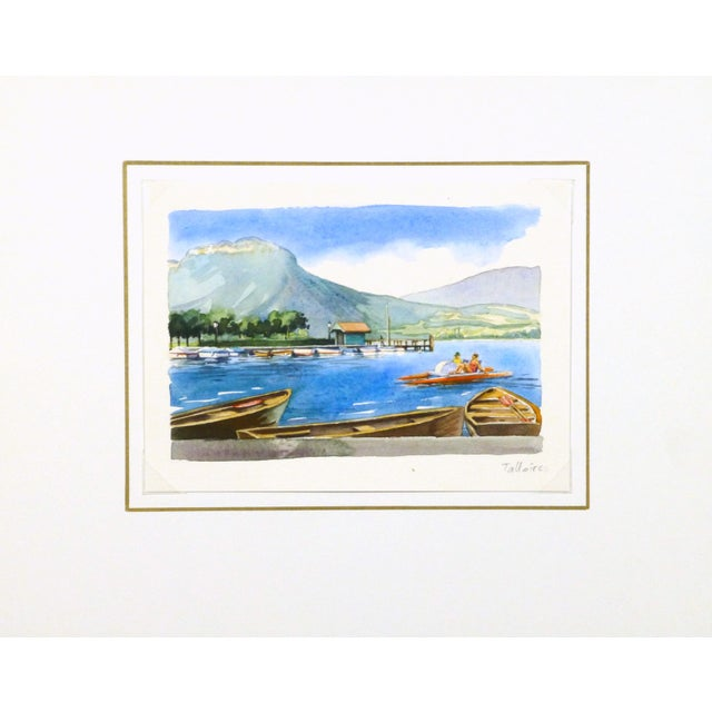 Original French Lake Watercolor - Image 3 of 3
