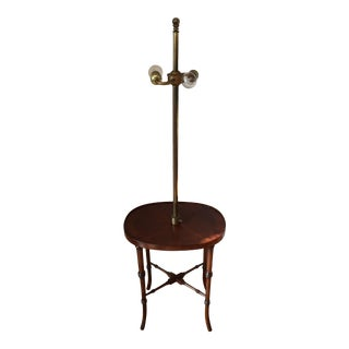 Hollywood Regency Faux Bamboo Table Floor Lamp