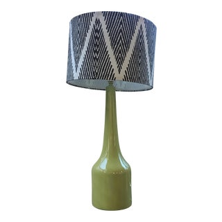 Light Green Lamp & Zig Zag Shade