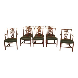 Chippendale Mahogany Dining Room Chairs - Set of 8