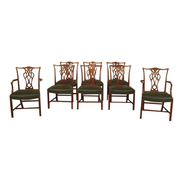 Chippendale Mahogany Dining Room Chairs - Set of 8 - Image 1 of 11
