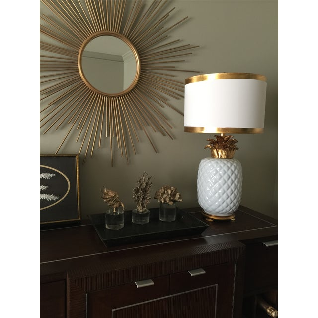 Vintage Inspired Pineapple Lamps- Pair - Image 4 of 7