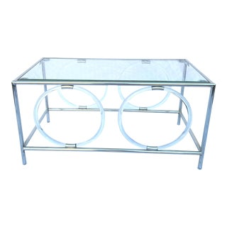 Rectangular Acrylic/Glass/Stainless Steel Coffe Table