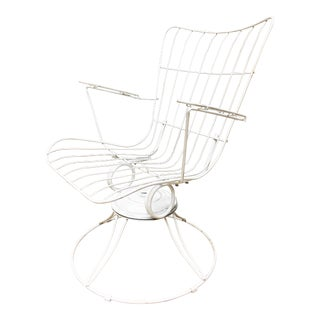Mid Century Modern White Homecrest Swivel Bounce Chair
