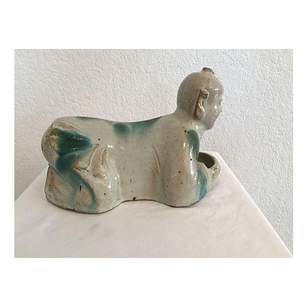 Antique Asian Porcelain Pillow - Image 7 of 9