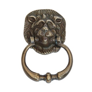 Antique English Brass Lion Door Knocker