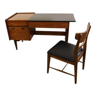 Hooker Mid-Century Modern Desk & Chair - A Pair