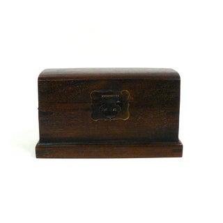 Chinese Oriental Wood Mini Trunk Box