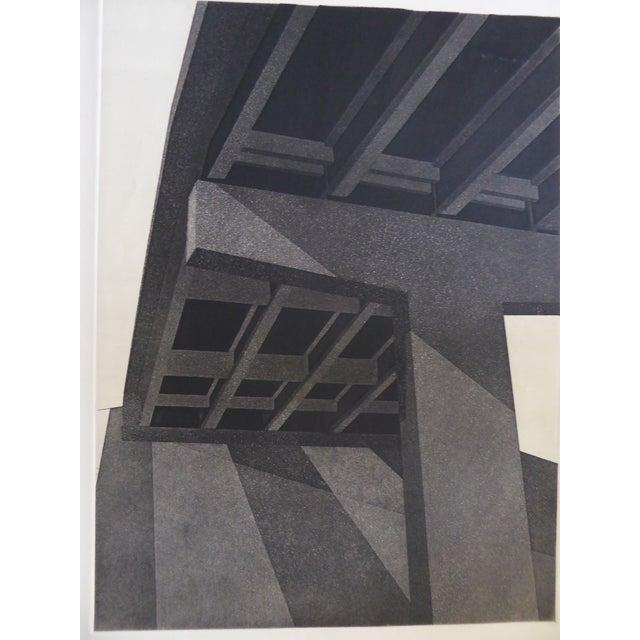"""Original Modern Industrial Graphic Silkscreen, """"Underpass #1"""" - Image 3 of 5"""