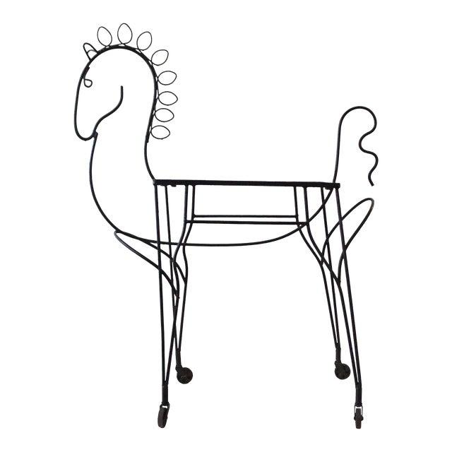 Frederick Weinberg Pony Bar Cart - Image 1 of 5