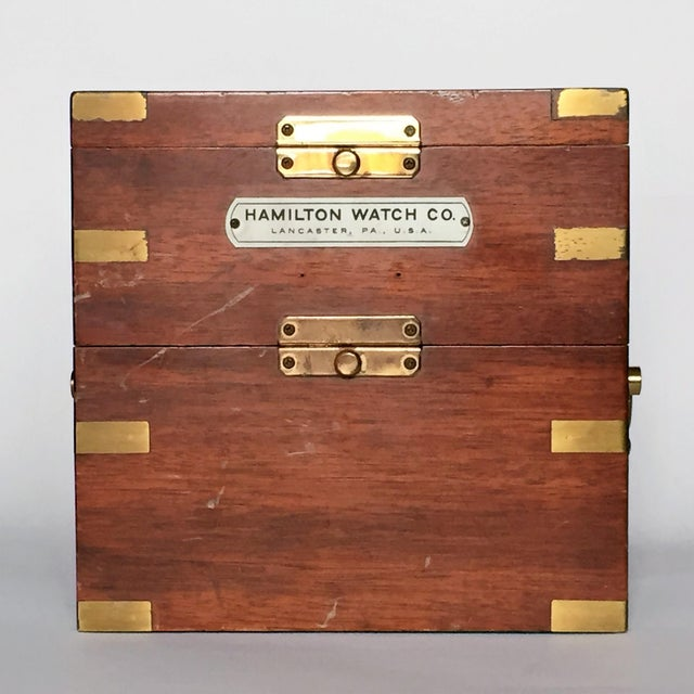 Vintage Marine Hamilton Chronometer Case - Image 8 of 9